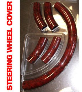 05 Red Wood Pattern Steering Wheel Cover Accessories Parts MR04