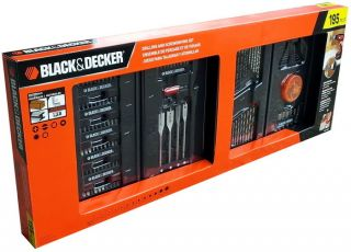 Decker Drill and Screwdriver Power Tool Accessory Set 195 PC
