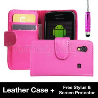 Leather Book Case For Samsung Galaxy ACE S5830 + Free Screen Protector