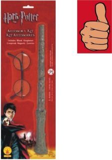 Harry Potter Accessory Kit Wand Glasses Child Costume Accessory
