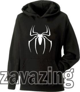 Unisex Black Hoodie Hoody Spider Man Marvel Comics Action Movie