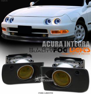 Full Kit 94 01 Acura Integra JDM Yellow Lens Bumper Fog Lights Switch