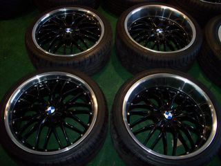 20 MRR GT1 Gloss Black Wheels Achilles Tires BMW 5 6 7 Series 535 550