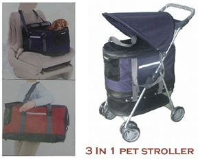 in 1 Pet Stroller Carrier Car Seat Cat or Dog New
