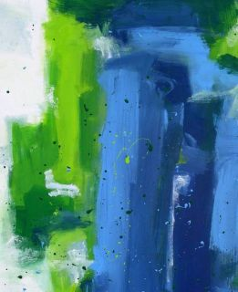 Green Abstract Original Art Painting Dan BYL Collector Investment