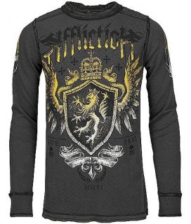 Affliction Trompe Reversible Long Sleeve Thermal USA Made Live Fast
