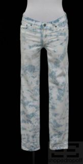 AG Adriano Goldschmied Blue & White Tie Dye The Stilt Skinny Jeans