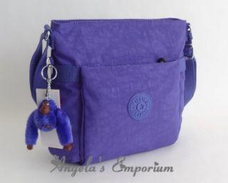Kipling Addison Shoulder Crossbody Bag Bright Blue Purple