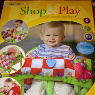 Shop Play 2 in 1 Shopping Cart Cover High Chair Activity Mat