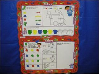 Dora Placemats Activity Mat All About Colors Set of 2