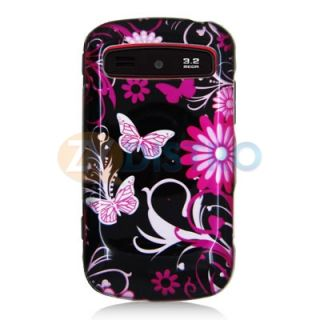 Flower Black Case Cover Accessory for Samsung Admire R720 Phone