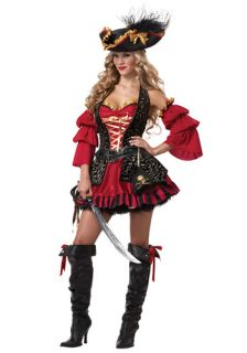 New Ladies Women Adult Hot Sexy Spanish Pirate Unique Deluxe Halloween