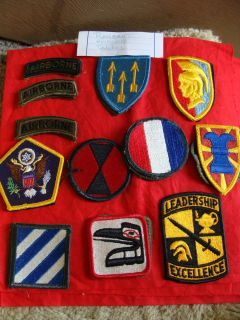 LOT OF 23 US ARMY ASSORTED RANGER AIRBORNE PATCHES SOME WERE IN