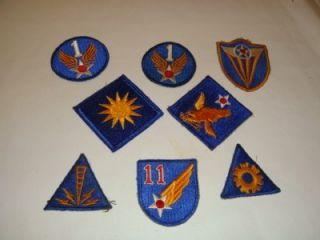 ORIGINAL US ARMY AIR FORCE USAAF CORPS WWII UNIFORM PATCHES LOT