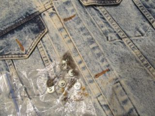 Tony Alamo Hollywood California Denim Jean Jacket Small Vtg