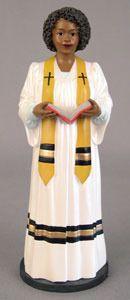 African American Figurine Church Female Preacher
