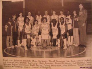 1981 Male Yearbook Louisville Kentucky Winston Bennett
