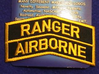 Patch US Military US Army Ranger Airborne Tab in full Color