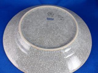 VTG Royal Copenhagen Blue/Gray & Gilt Crackle Glaze 7 Plate 460 4022