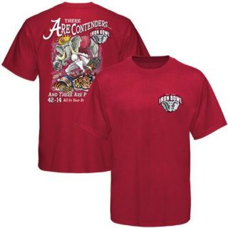 Alabama Crimson Tide 2011 Iron Bowl King Score T Shirt Crimson