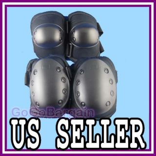 Tactical Airsoft Skateboard Paintball Gear Knee Elbow Protective Pads