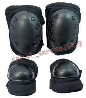 Tactical Airsoft Skateboard Paintball Knee Elbow Protective Pads Gear