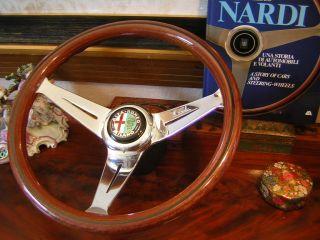 Alfa Romeo Spider Giulia Montreal GTA Nardi Deep Dish Wood Steering