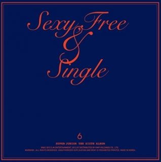 Pop Super Junior 6th Album Sexy Free Single Type B CD SUJU Poster