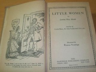 Vintage Hardcover Book Little Women Louisa May Alcott 1929