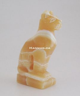 Egyptian Alabaster Semi Precious Stone Cat Bastet 1162