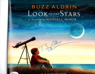 Buzz Aldrin signed book Look to the Stars Apollo 11 2nd man on the