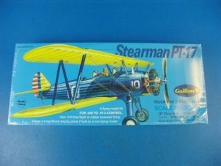 Stearman PT 17 Flying Model Airplane Kit Balsa Wood 803 1 16 Scale