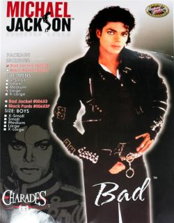 Michael Jackson King Pop Bad Buckle Pants Costume Mens
