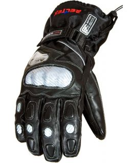 Water & Wind Resistant Leather Motorcycle Motorbike Gloves ALL SIZES