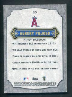 2012 Topps Five Star #35 Albert Pujols Base Card 12/80 ~ Angels