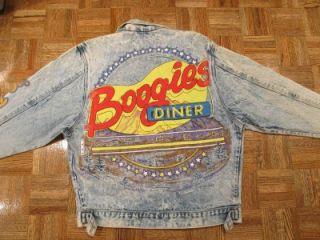 Tony Alamo Boogies Diner Aspen Denim Jean Jacket Sz Small Vtg