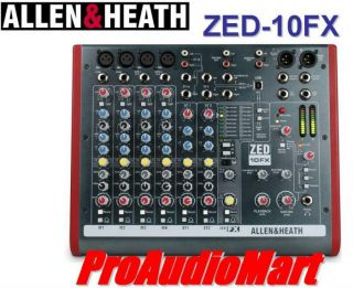 Allen Heath ZED 10FX Multi Purpose Mixer with Effects Processing New