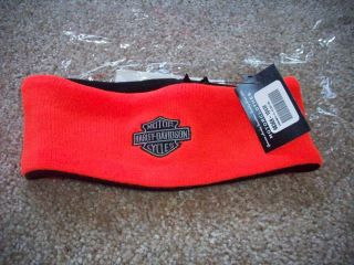 New Harley Davidson Mens Bar Shield Hi Visability Ear Warmer