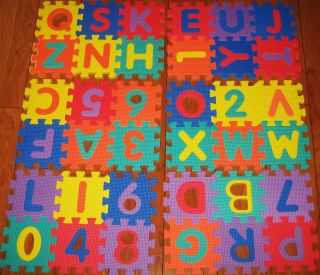 Boy / Girl   Large Toy Alphabet & Number Puzzle Mat Tiles ♥