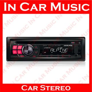 Alpine Radio CD  USB Stick Aux In Car Stereo Player with Red