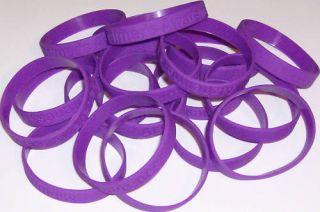 Purple ALZHEIMERS AWARENESS Silicone Bracelets ~