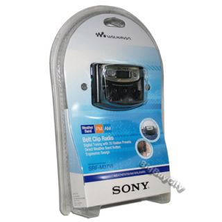 Sony SRF M37W Walkman Digital Tuning Weather Band Am FM Stereo Radio