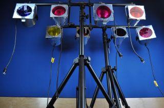 American DJ Pro Foot Control Pak Lighting Kit w 8 Lights 2 Stands