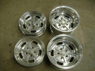 American Racing Vintage Salt Flat Wheels 15x10 15x4 hot rat rod