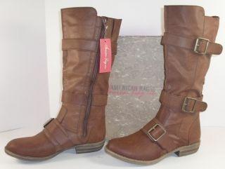 American Rag CIE Kandice 8 M Cognac Brown Knee High Riding Boots