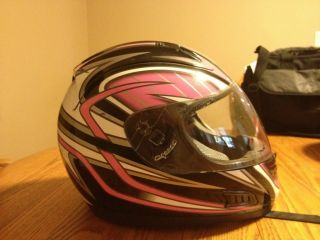VEGA ALTURA HELMET PINK AND BLACK WOMEN GIRL SIZE MEDIUM MED EXCELLENT