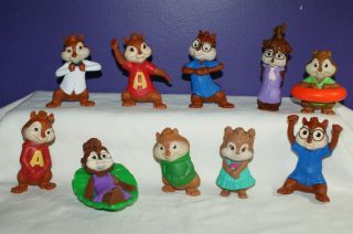 Alvin and the Chipmunks McDonalds toys Chipwrecked & Squeakquel Happy