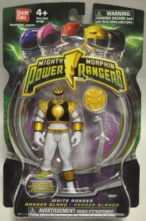 Mighty Morphin Power Rangers 2010 White Ranger Figure