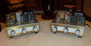 Vintage Pair Realistic Carnival Tube Amps Nice Condition New Caps Make