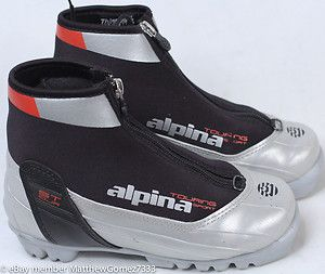 Alpina Touring Sport Cross Country Ski Boots NNN Size 33 w